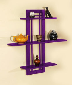 THE NEW LOOK Wall Shelves Cum Rack 3-Tier-100000641802