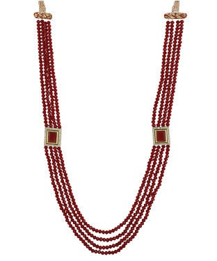 aradhya Beads, Crystal Yellow Gold Plated Metal Necklace