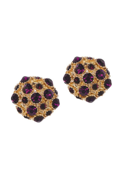 Bauble Burst Shiraz Shine Ear Studs