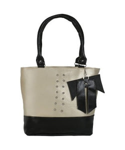 KACEY Grey, Black PU Handbag