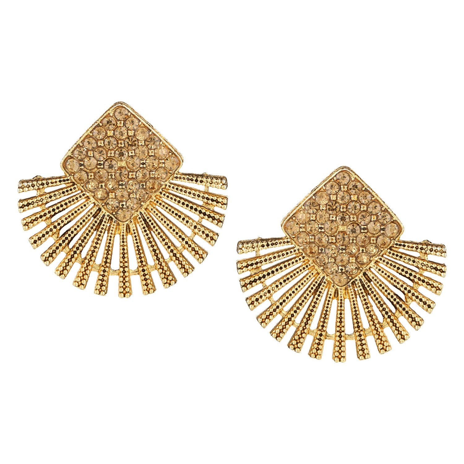 high online buy stud jewellery beautiful earrings designer color latest golden indian brown quality products