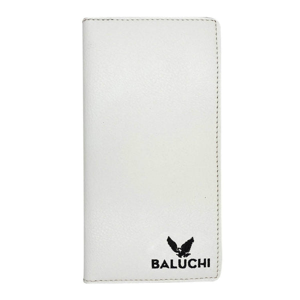 Baluchi White Textured Long Wallet for Men & Women $ BLC_LNGWLT_WHT_01