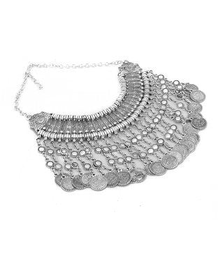 Aradhya Silver Plated Metal, Copper Necklace