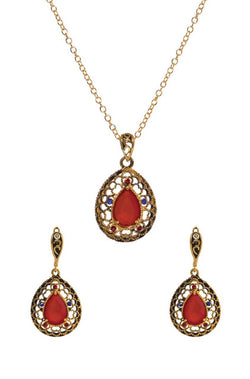 Opulent Ruby Pendant Set - JISDPES6040