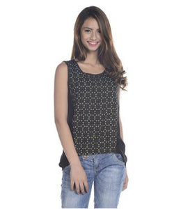 Viro Black And Yellow S/L Top