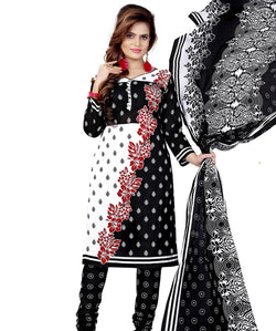 Minu Suits white Cotton Salwar Suits Sets Dress Material Freesize,Phillouri_1007