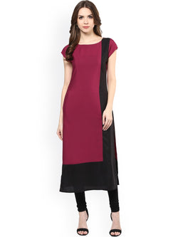 Fuoko  Purple Color Crepe Women Partywear Kurtis - FWAPKU003WIN