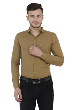 Baluchi Solid Regular Full Sleeve Linnen Beige Formal Shirt $ BLC_MNSHIRT_07