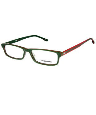 David Blake Green Rectangular Full Rim EyeFrame
