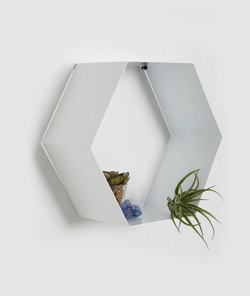 THE NEW LOOK Hexagonal Shape Wall Shelf-100000636330