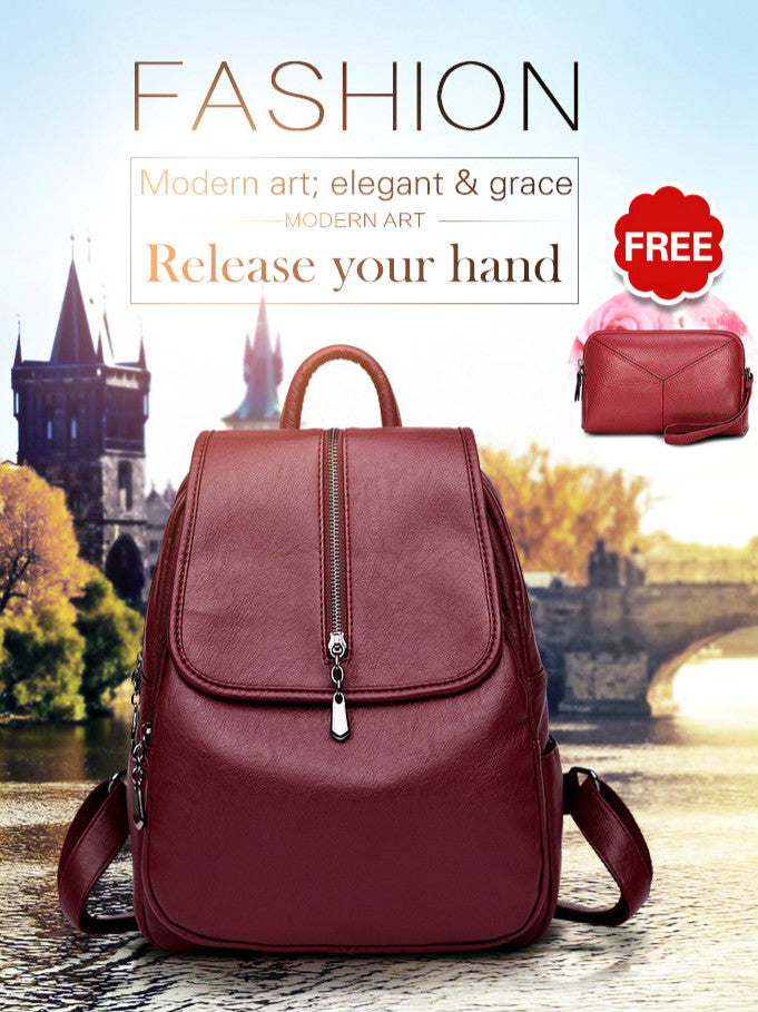 b1aee02bcf  Free handbags FM large capacity leather casual should bags