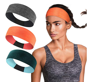 Workout Headbands For Women Non Silp Sweat Bands Moisture Wicking & Quick Dry