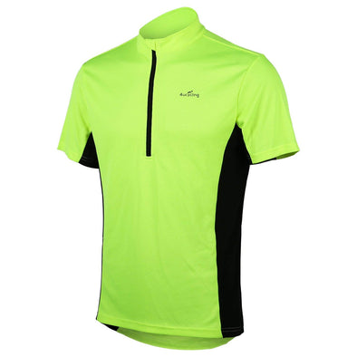 Classic - Short Sleeve Quick Dry Bike Jersey, Green/Black