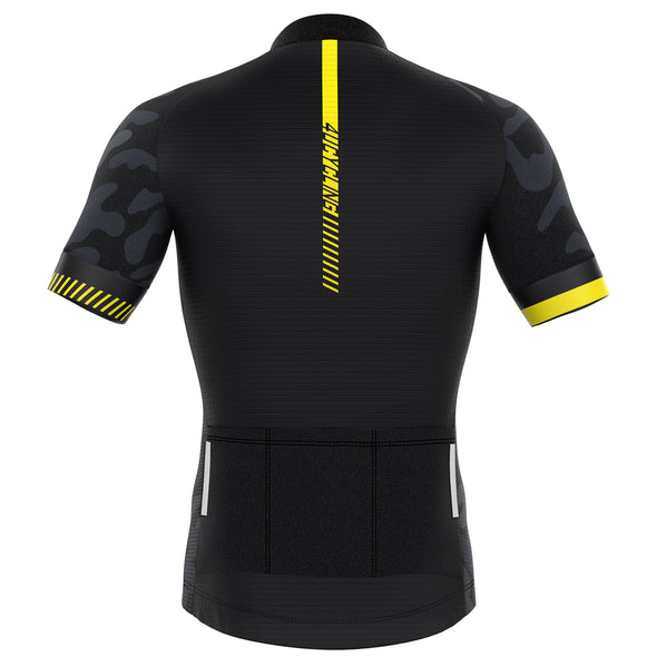 Sprinter - Men's Full Zip Short Sleeve Cycling Jersey - Yellow Strong
