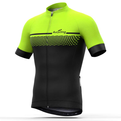 Pursuit - Men's Short Sleeve Full Zip Cycling Jersey, Green