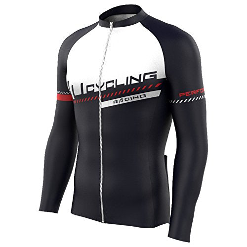 Peloton - Men's Team Wear Long Sleeve Cycling Jersey - Black/Red