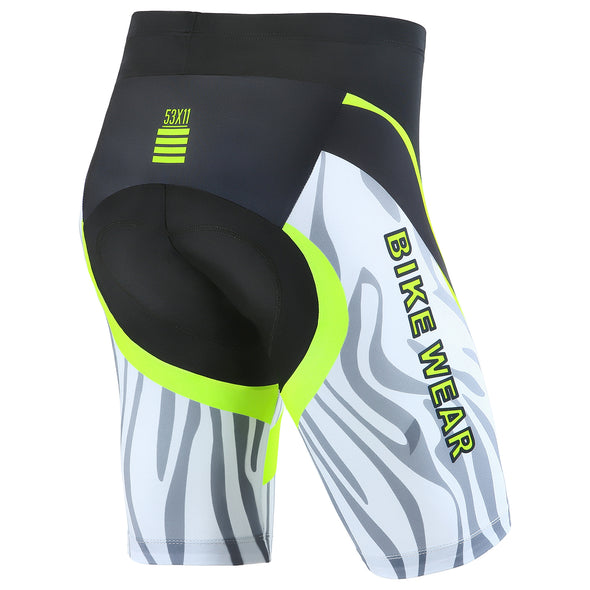 All-Rounder - Men's 3D Gel Padded Cycling Shorts - Green/Black
