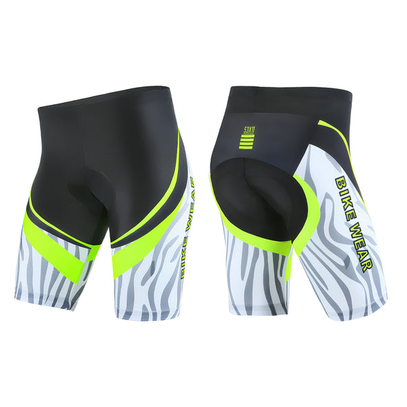 All-Rounder - Men's 3D Gel Padded Cycling Shorts - White/Green