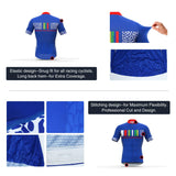 Men's Short Sleeve Cycling Jersey Full Zip Moisture Wicking, Breathable Running Top - Bike Shirt