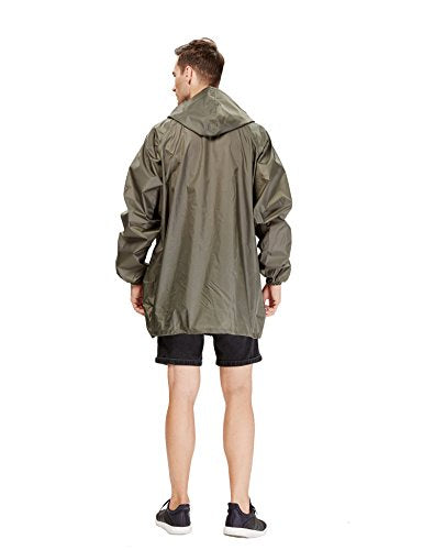 Peak - Easy Carry Raincoat/Poncho In a Pouch, Army Green