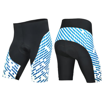 All-Rounder - Men's 3D Gel Padded Cycling Shorts - Black/Blue