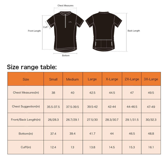 Classic - Short Sleeve Quick Dry Bike Jersey, Black