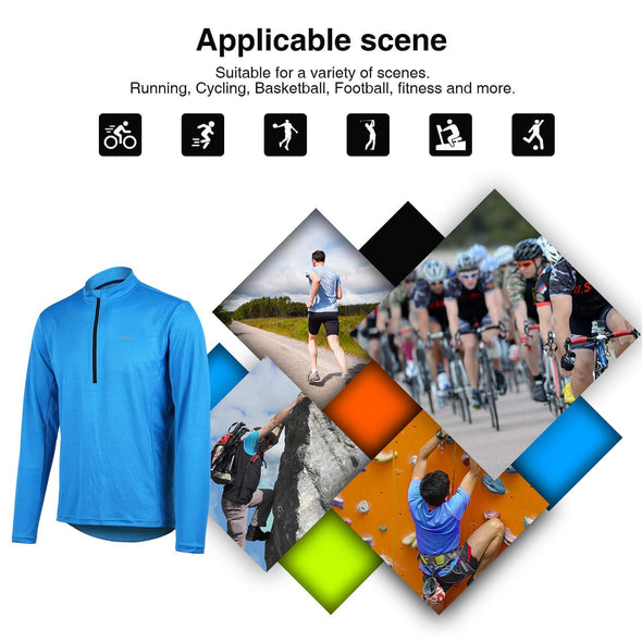 Slipstream - Long Sleeve Quick Dry Bike Jersey, Blue
