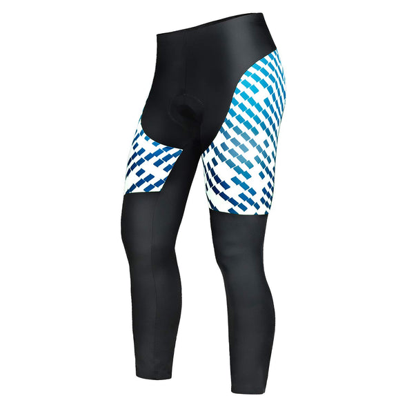 Chaser - Professional 3D Gel Padded Cycling Pants, Black/Blue