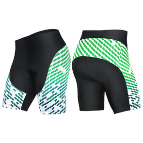 All-Rounder - Men's 3D Gel Padded Cycling Shorts - Black/Green