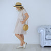 Henley Dress | Stripe Linen