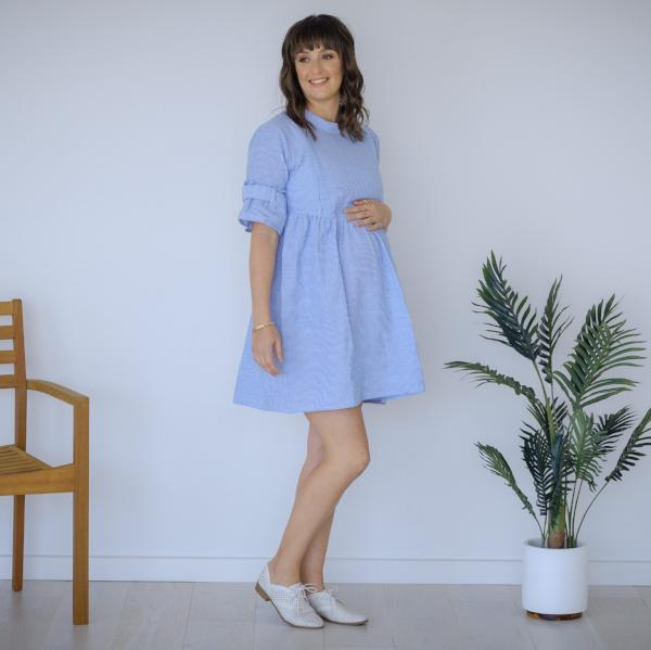 FINAL SALE - Havana Dress | Pinstripe Blue