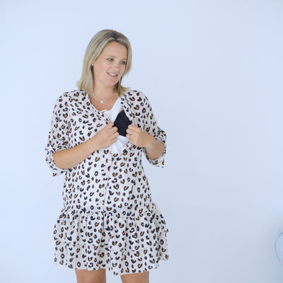 Byron Dress | Leopard