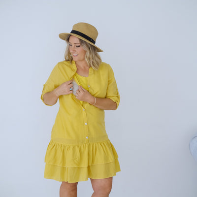 Byron Dress | Mustard