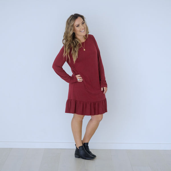 Wynter Dress | Crimson + Black