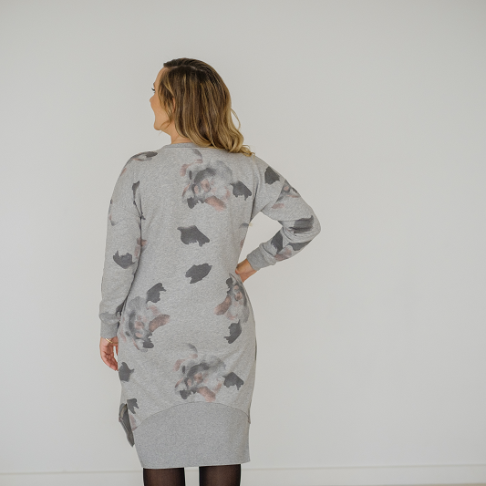 La Chaleur Dress | Grey Floral
