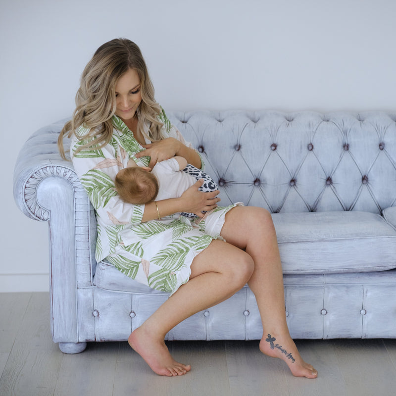 Breastfeeding Pyjamas | Botanical 3/4 Sleeve