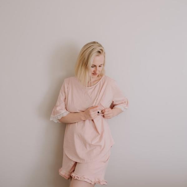 Lace Pyjama Set | Blush
