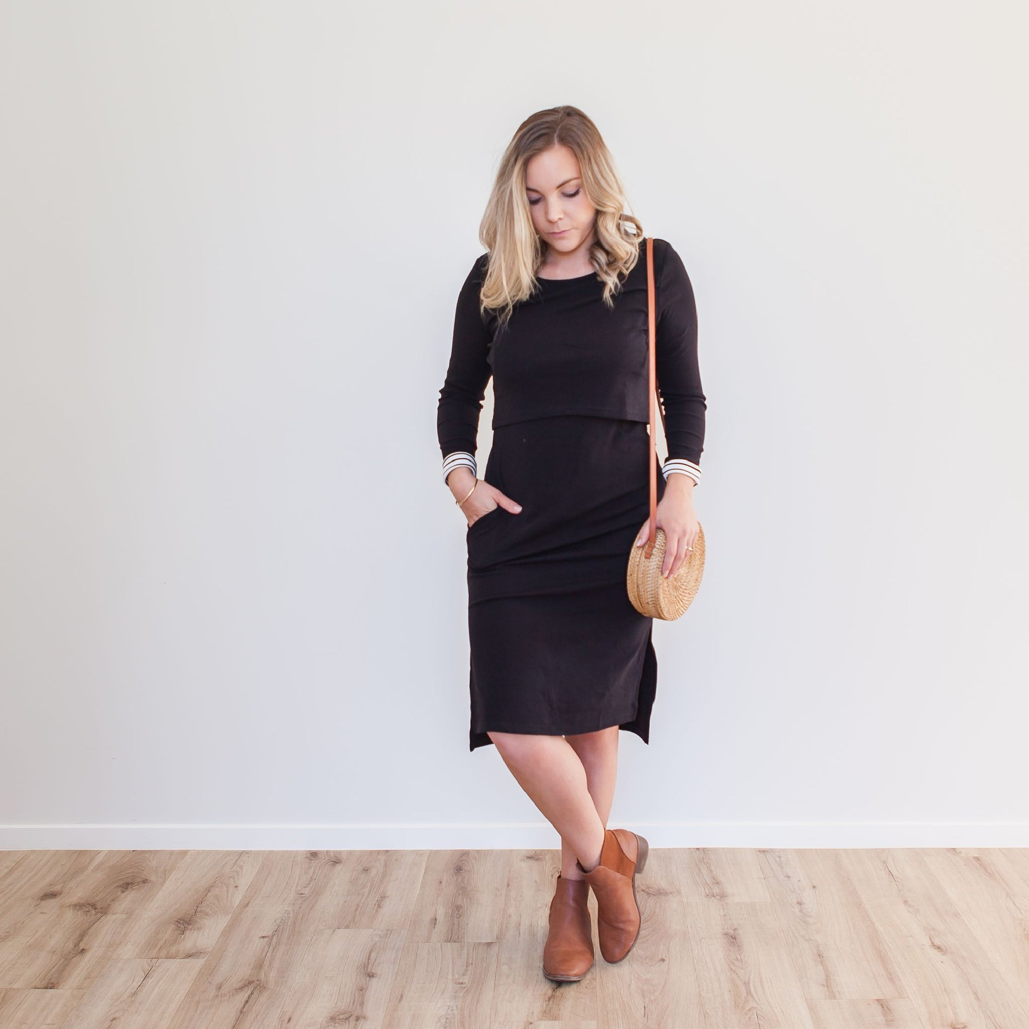 Alexis Crop Dress | Black