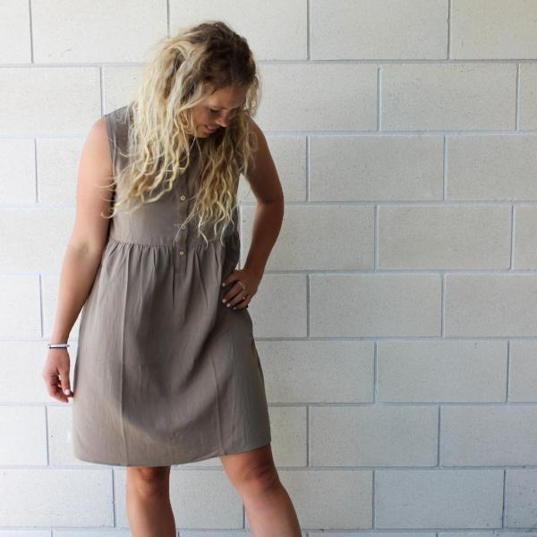 FINAL SALE | Imbue Linen Dress | Olive
