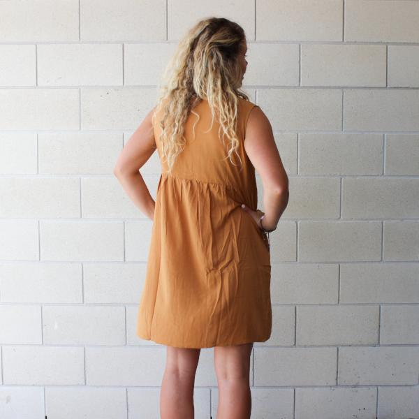 Imbue Linen Dress | Golden Caramel