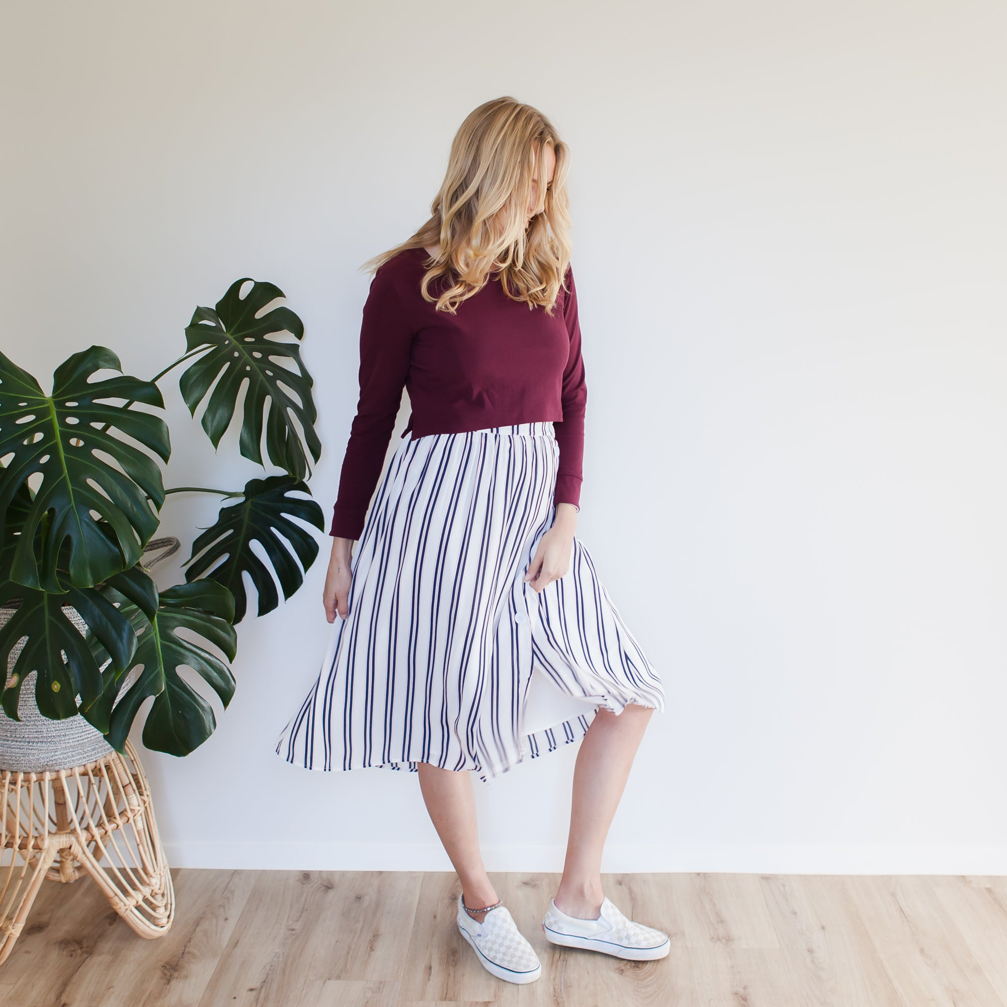 Indigo Skirt | Candy Stripe