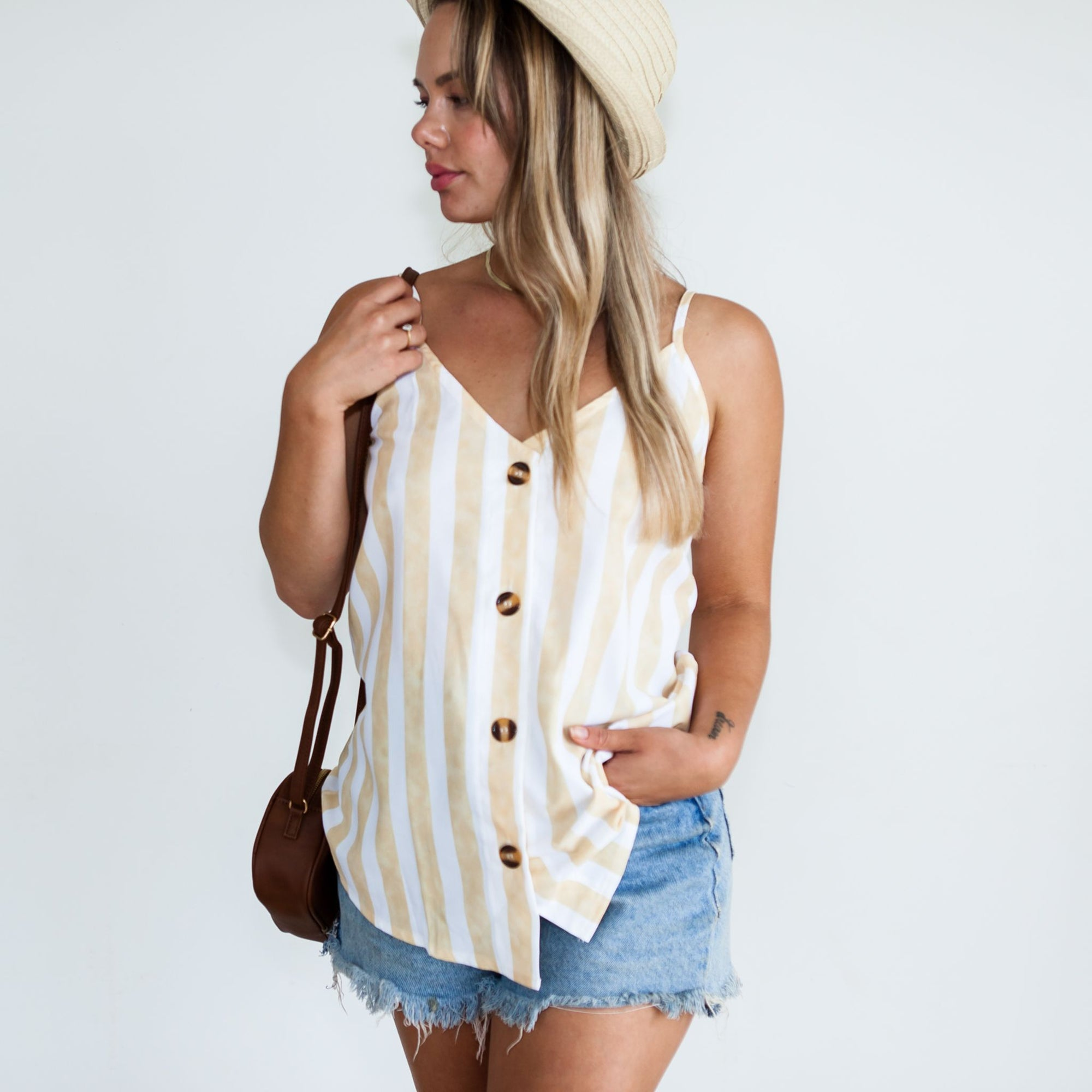 Luna Cami | Yellow Stripe