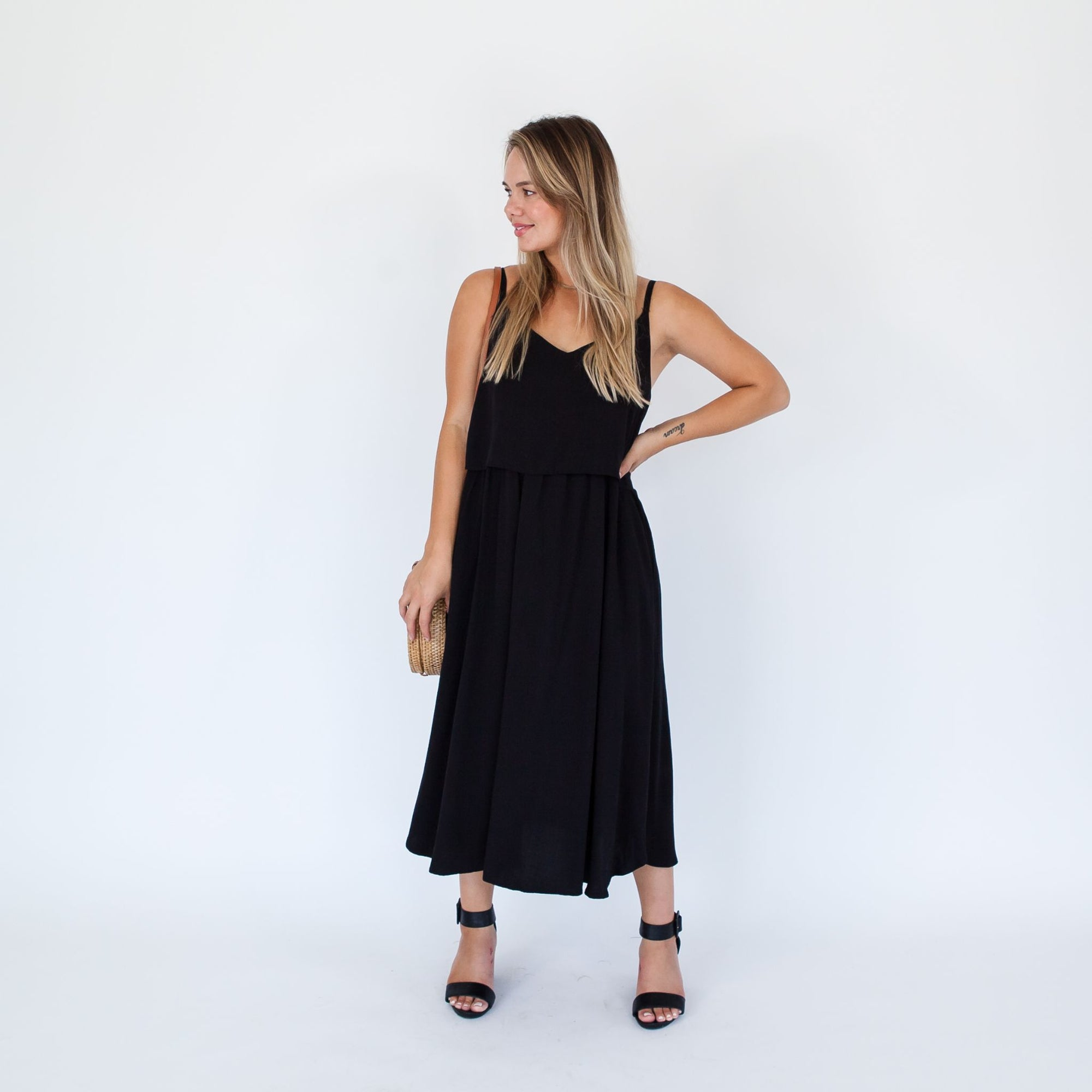 Ruby Dress Midi | Black