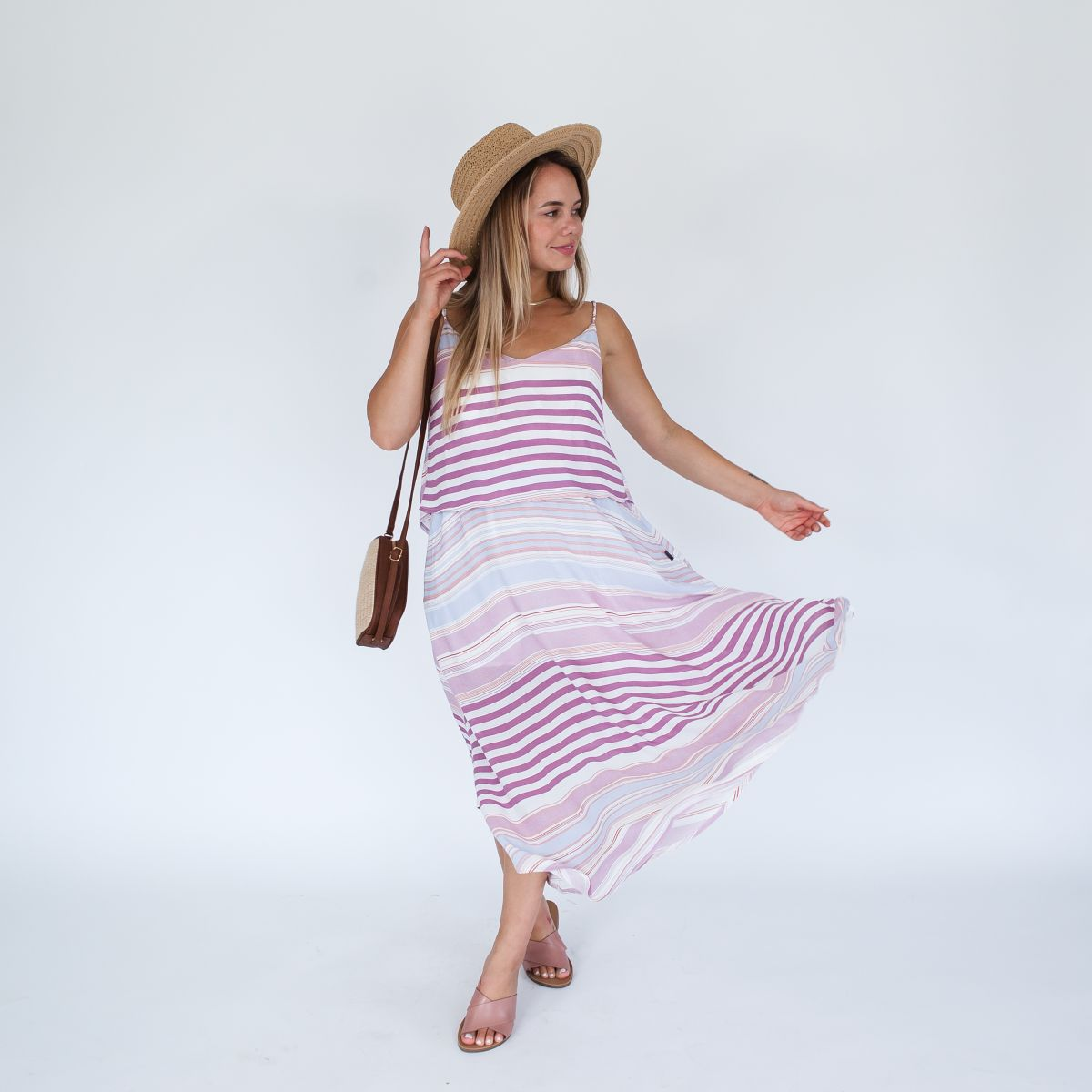 Ruby Dress Maxi | Sunset Stripe
