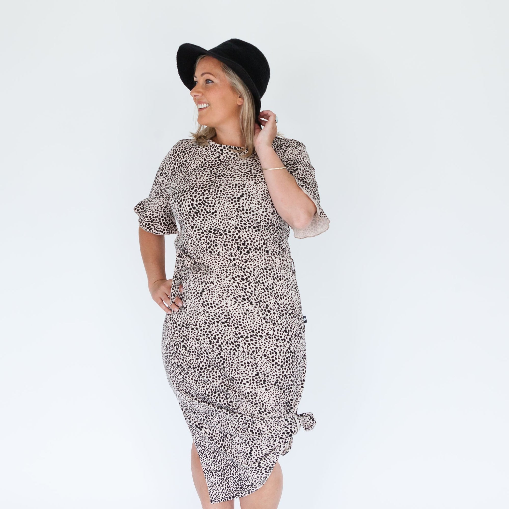 Zaria Dress | Snow Leopard