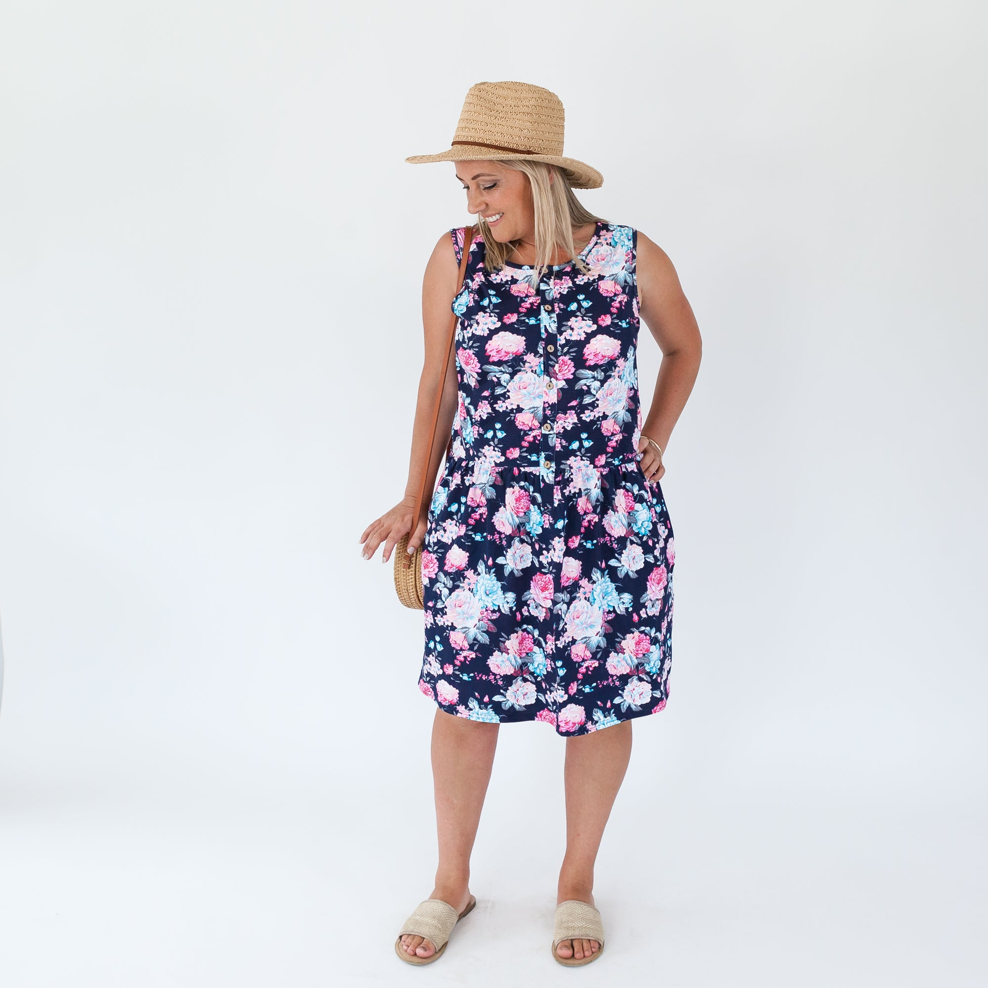 Billie Dress | Navy Floral