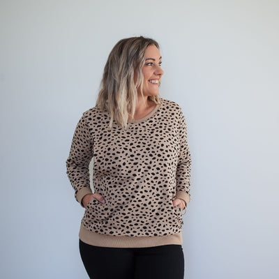 Huxley Leopard Sweater | Coffee