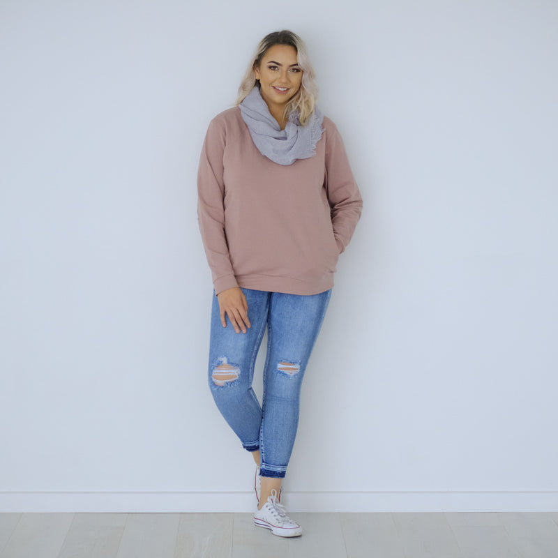 Chateau Sweater | Rose