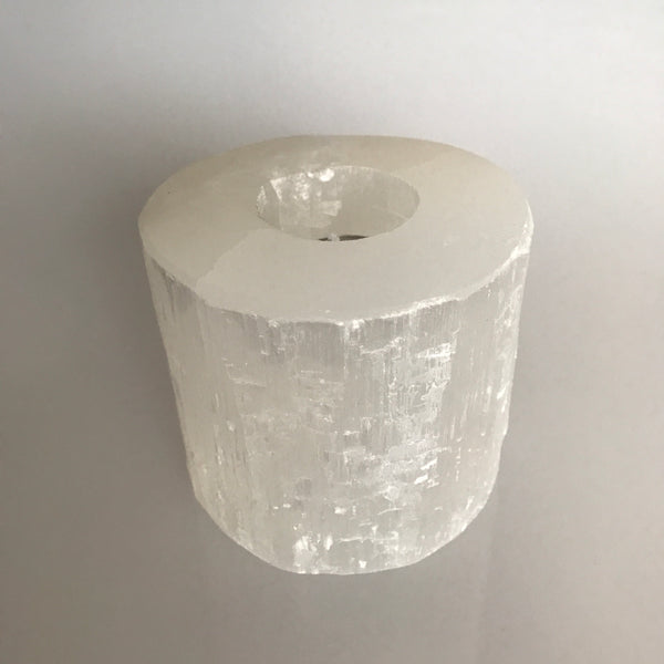 Selenite Tealight Candle Holder- Large