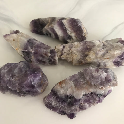 Raw Chevron Amethyst